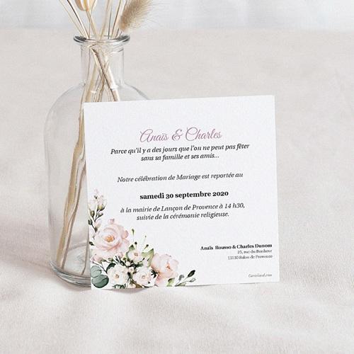 Change The Date Mariage Romantique Kraft, 10 cm x 10 cm