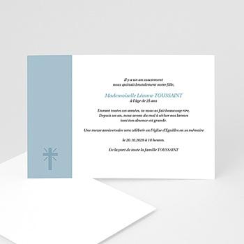 Carte remerciement décès chrétien aux cieux - hommage posthume sur mesure