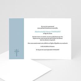 Faire-Part Décès Chrétien Aux Cieux - hommage posthume