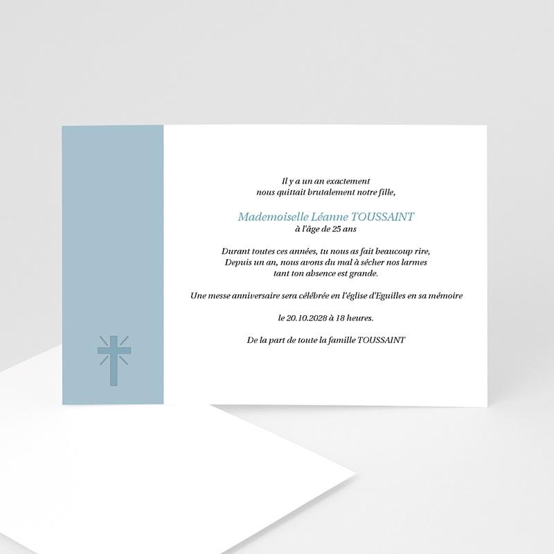 Carte Remerciement Décès Chrétien Aux Cieux - hommage posthume