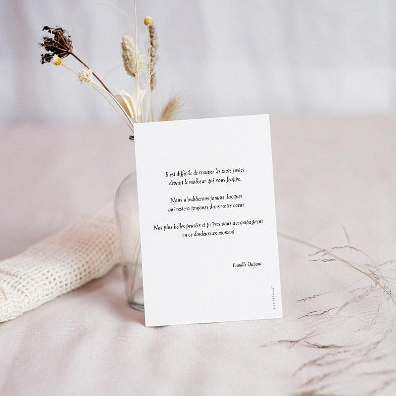Carte Condoléances Coquelicot, Affectueuses Pensées pas cher