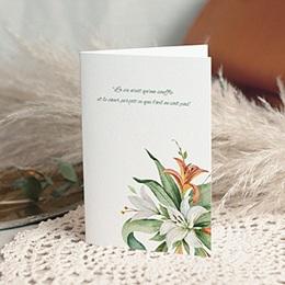 Carte Condoléances - Lys en Bouquet, 10,5 cm x 15 cm - 0