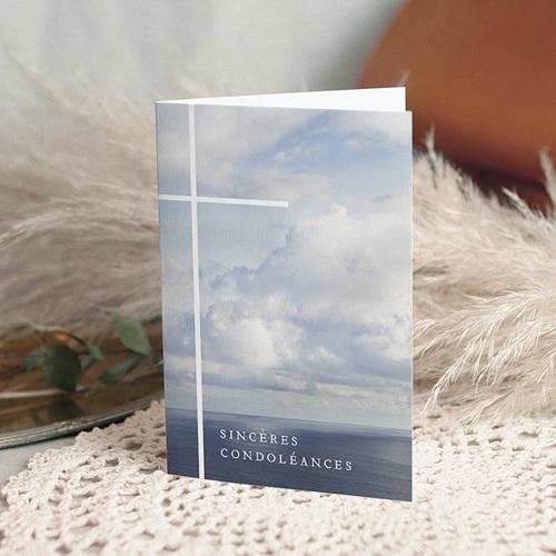 Carte Condoléances Foi et Plénitude, 10,5 cm x 15 cm