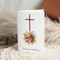 Carte Condoléances Croix florale, Chaleureuses Condoléances