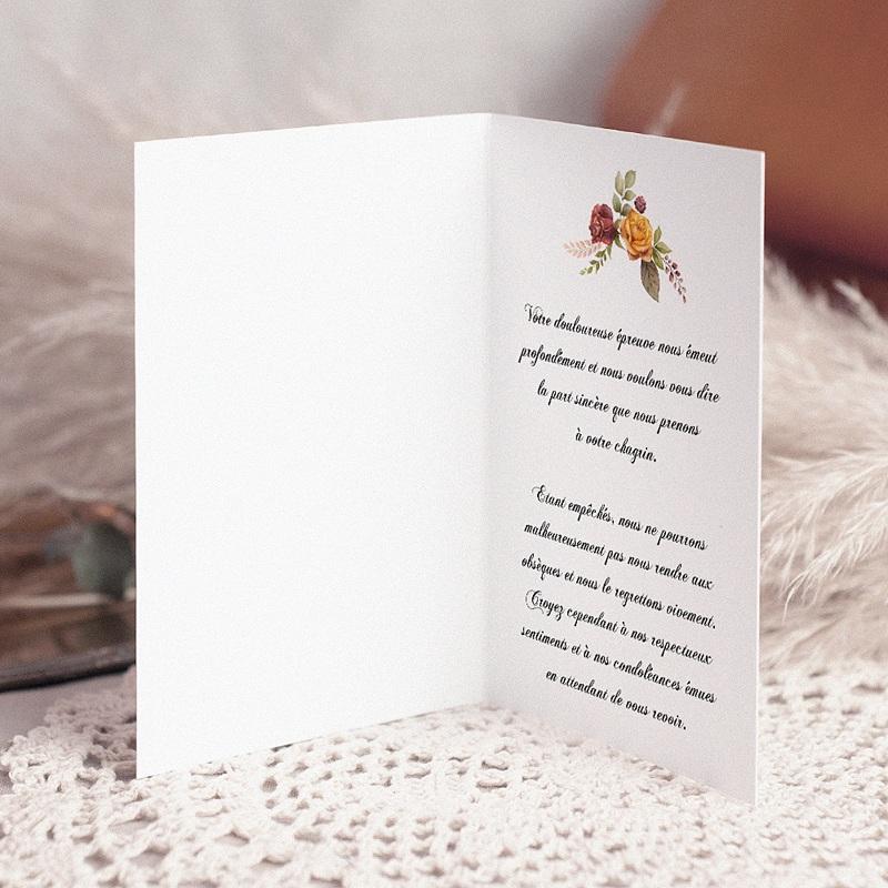 Carte Condoléances Croix florale, Chaleureuses Condoléances pas cher