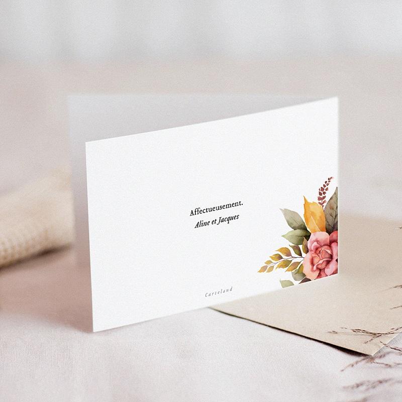 Carte Condoléances Fleurs de Toussaint,  15 cm x 10 cm gratuit
