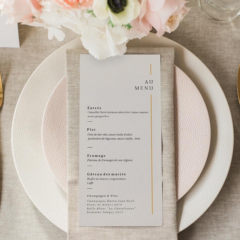 Menu Mariage Cadre Or, Lunch, 10 x 21 gratuit
