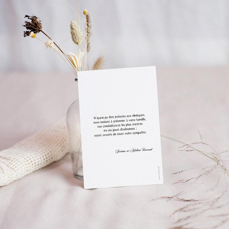 Carte Condoléances Fleurs du Ciel, 10 cm x 14 cm pas cher