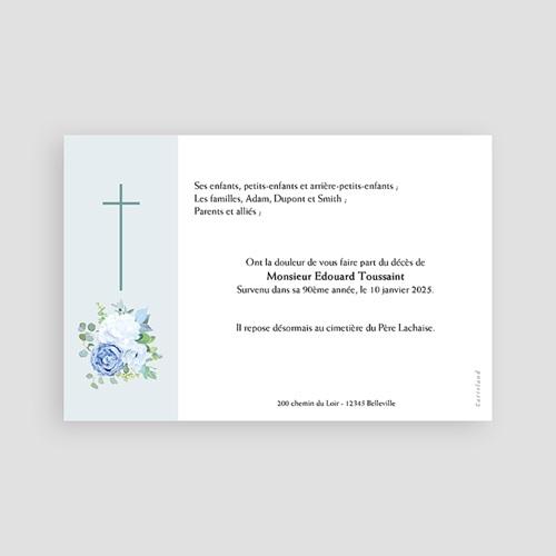 Faire-Part Décès Avis décès, Sérénité Bleue pas cher
