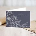 Carte Condoléances Magnolia Blanc, 15 cm x 10 cm