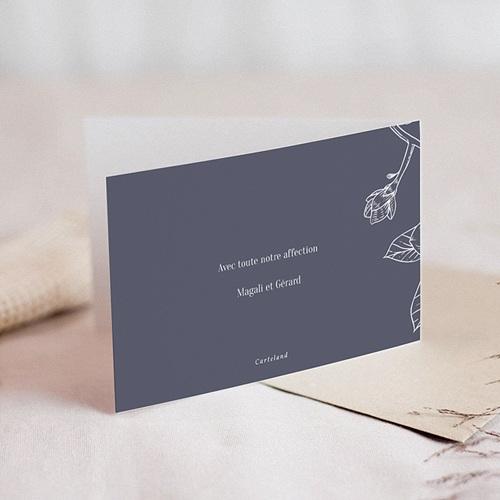 Carte Condoléances Magnolia Blanc, 15 cm x 10 cm gratuit