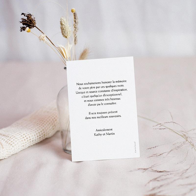 Carte Condoléances Paix intérieure, Sable et galet, 10 x 14 cm pas cher