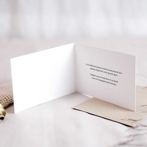 Carte Condoléances Lys blancs et orange,  15 x 10 cm pas cher