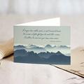 Carte Condoléances Montagnes Eternelles, 15 cm x 10 cm