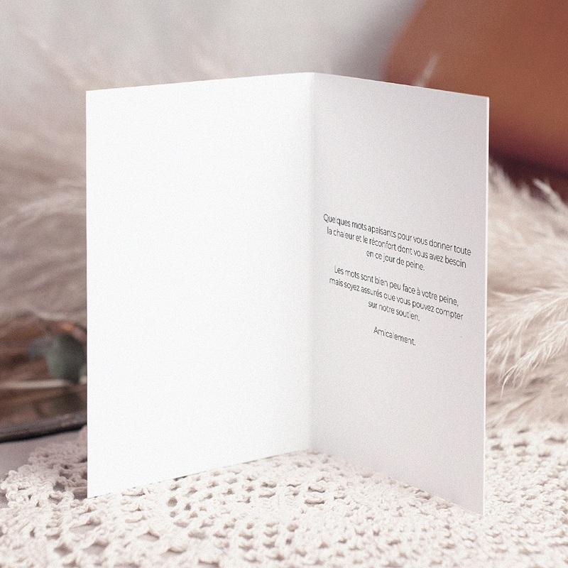 Carte Condoléances Souffle éternel, 10,5 cm x 15 cm pas cher
