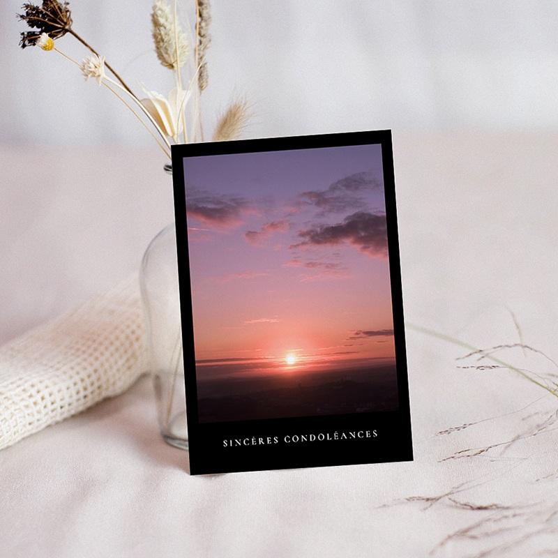 Carte Condoléances Foi et Lumière, 10 cm x 14 cm