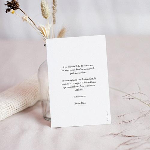 Carte Condoléances Foi et Lumière, 10 cm x 14 cm pas cher