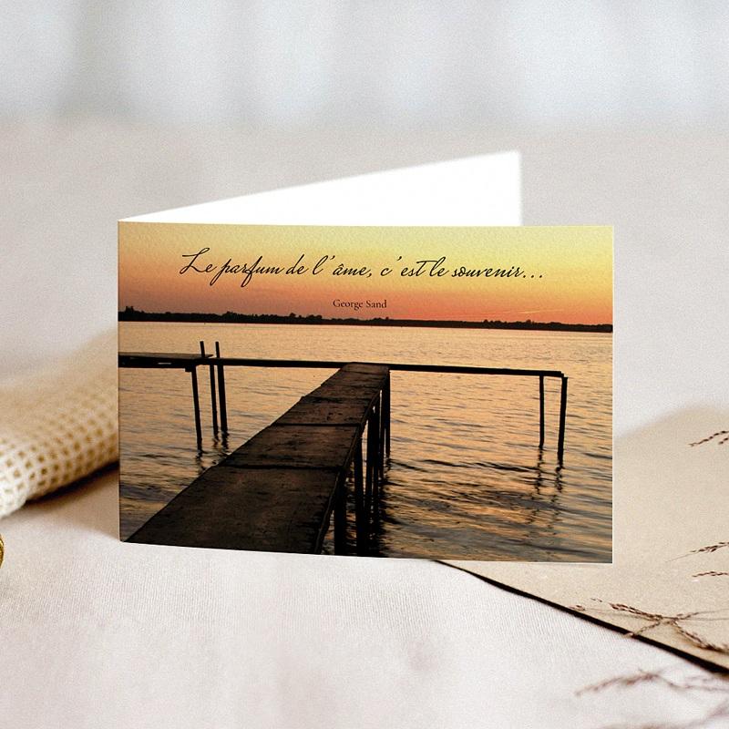 Carte Condoléances Passage de Lumière, 15 cm x 10 cm