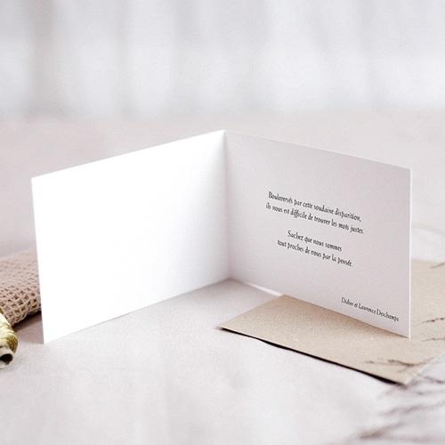 Carte Condoléances Passage de Lumière, 15 cm x 10 cm pas cher