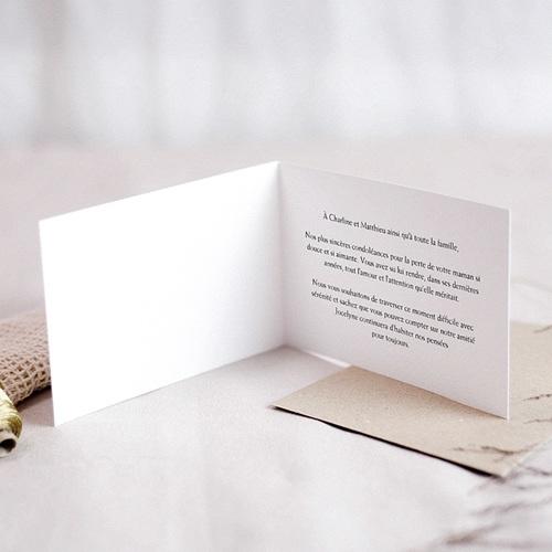 Carte Condoléances Rose Jaune, Affection,15 cm x 10 cm pas cher
