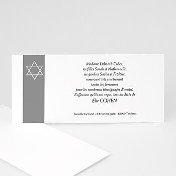 Carte remerciement décês juif Notre étoile d'Israë