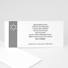 Faire-Part Décès Juif Notre étoile d'Israël