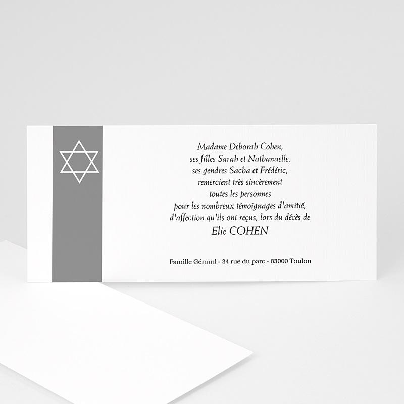 Carte remerciement décès juif Notre étoile d'Israël