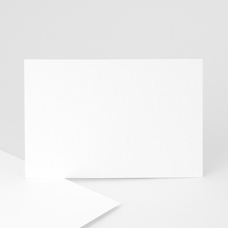 Faire-Part Décès Vierge Rectangle simple, 14 x 10, sur-mesure