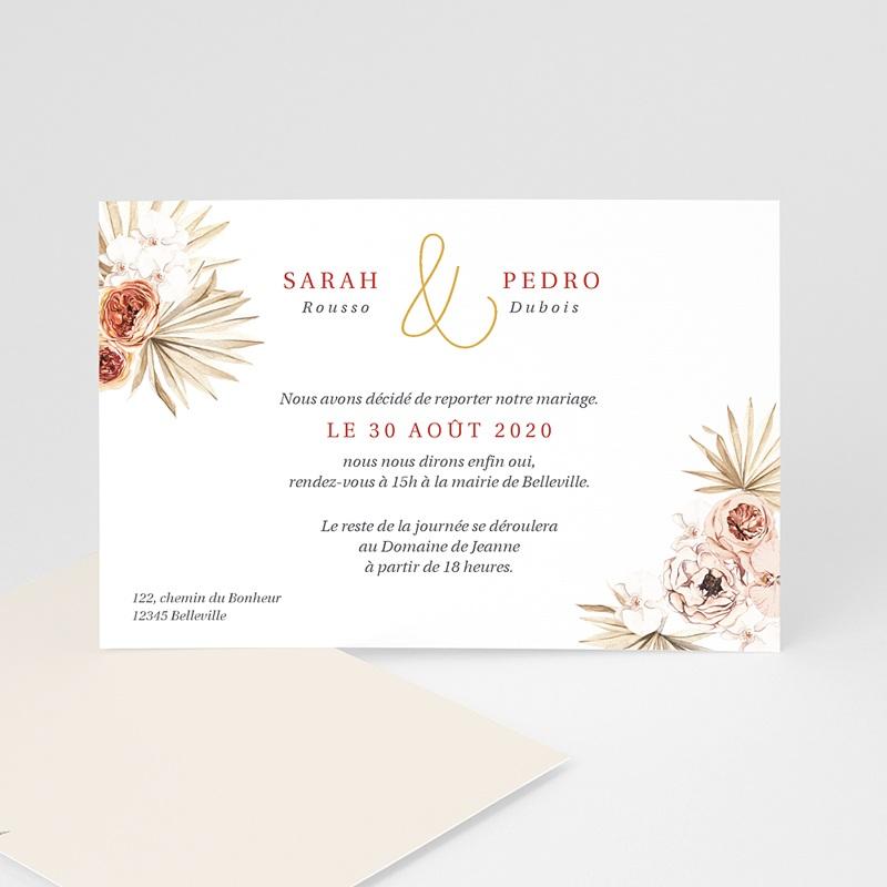 Change The Date Mariage Fleurs séchées, Dorure