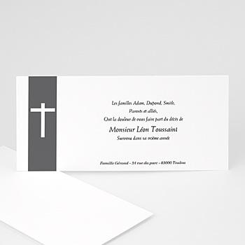 Carte remerciement décès chrétien mon amour, ma douleur personnalisable