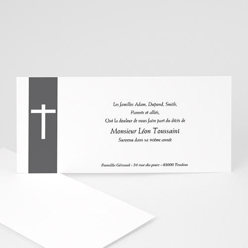 Carte remerciement décès chrétien Mon amour, ma douleur