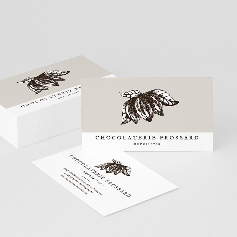 Carte de Visite Chocolatier, 8,5 x 5,5 cm