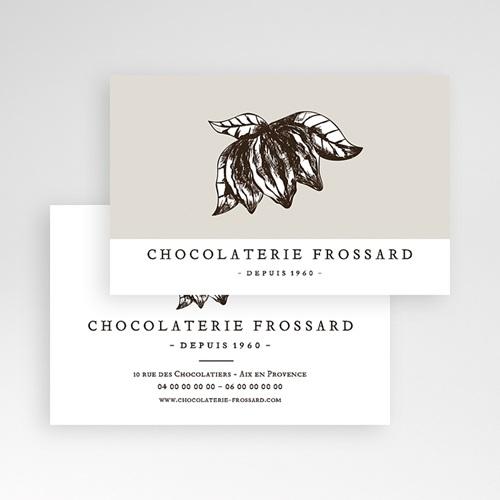 Carte de Visite Chocolatier, 8,5 x 5,5 cm pas cher