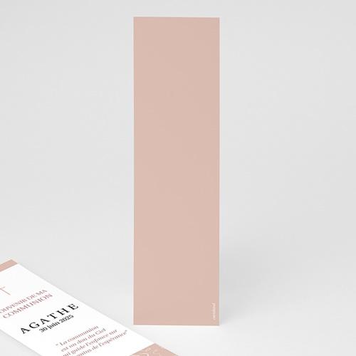 Marque Page Communion Croix, Oiseau rose, vigne, 5,5 x 21 pas cher