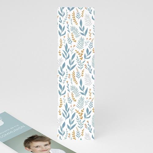 Marque Page Communion Colombe et fleurs bleues, 5,5 x 21 pas cher