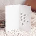 Carte Condoléances Bougies et Dorures, 10,5 x 15 pas cher
