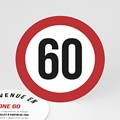Carte Invitation Anniversaire Zone 60, Soixantaine et plus