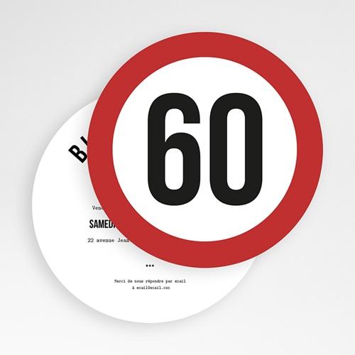 Carte Invitation Anniversaire Zone 60, Soixantaine et plus gratuit