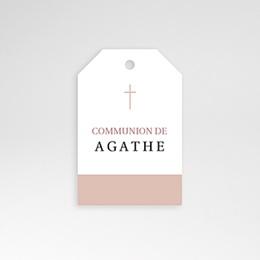 Etiquette Personnalisée - Croix, Oiseau Rose, vigne, 4,5 cm - 0