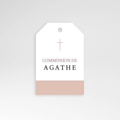 Etiquette Personnalisée Croix, Oiseau Rose, vigne, 4,5 cm