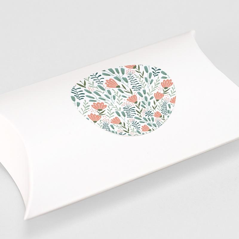 Etiquette Autocollante Communion Motif Floral Rose, 4,5 cm gratuit