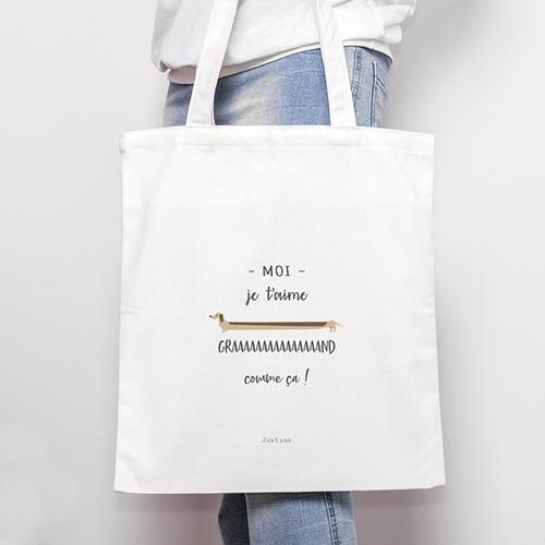 Tote Bag Personnalisé Amour en Grand, Fourre-Tout