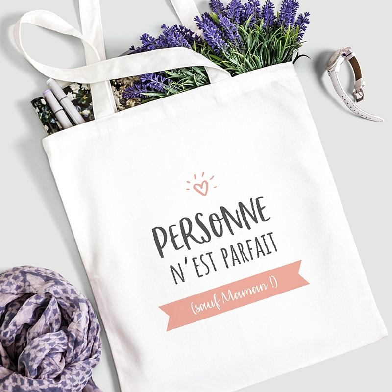 Tote Bag Personnalisé Personne n'est parfait sauf gratuit
