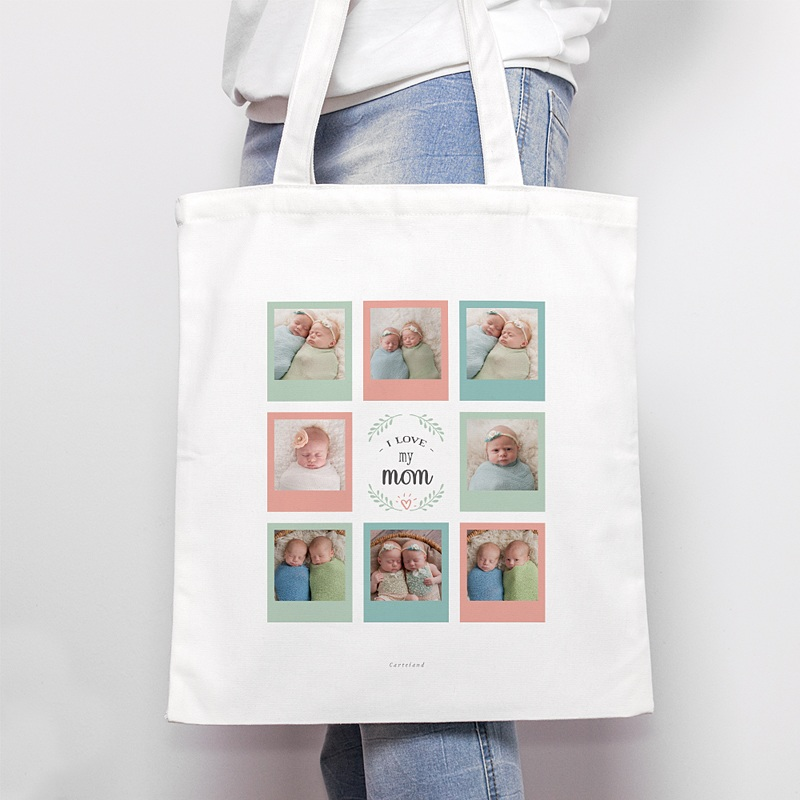 Tote Bag Personnalisé Mutliphotos, Love Mom