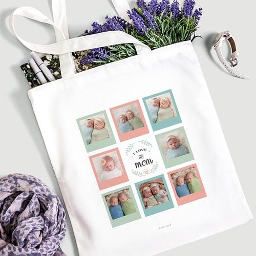 Tote Bag Personnalisé Mutliphotos, Love Mom gratuit