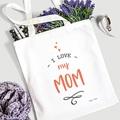 Tote Bag Personnalisé Love my Mom, sac Fourre Tout gratuit