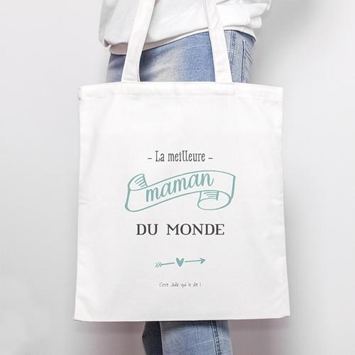 Tote Bag Personnalisé La meilleure Maman, Sac en toile
