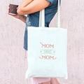 Tote Bag Personnalisé Mom Sweet Mom, Cabas Fourre Tout pas cher