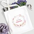 Tote Bag Personnalisé JTM Maman, Fleurs, Sac en toile gratuit