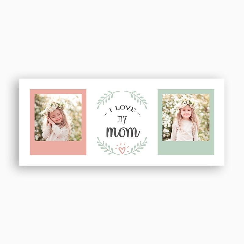 Mug Personnalisé Fête des Mères Love Mom, 2 photos pas cher